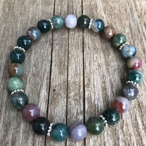 Jewelry - Indian agate bracelet 7 inches